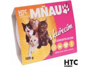 MŇAU Vanička pro kočky s kuřecím masem 90% a lososovým olejem, 100 g