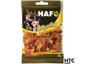 HAF MLSOŇKY Kolagenové chipsy, pamlsek pro psy, 60 g