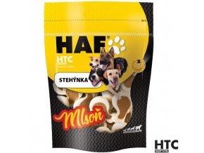 HAF MLSOŇ Stehýnka s drůbežími játry a syrovátkou, pamlsek pro psy, 80 g