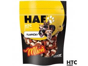 HAF MLSOŇ Tlapičky s uherákem, drůbežími játry a syrovátkou, pamlsek pro psy, 80 g