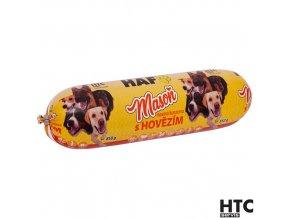 HAF MASOŇ Masová konzerva s hovězím 90%, kompletní krmivo pro psy, 850 g