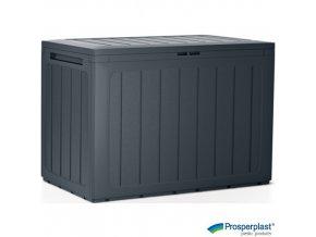 PROSPERPLAST® BOARDEBOX Úložný box plastový, antracitový, 78 x 43 x 55 cm, 190 l