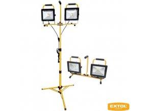 EXTOL® LIGHT Reflektor přenosný se stativem, 2x 30 W LED COB, 2x 2400 lm, 230 V