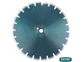 EXTOL® INDUSTRIAL Diamantový kotouč řezný na asfalt, segmentový, 400 x 25,4 x 3,5 mm