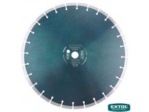 EXTOL® INDUSTRIAL Diamantový kotouč řezný na beton, segmentový, 400 x 25,4 x 3,5 mm