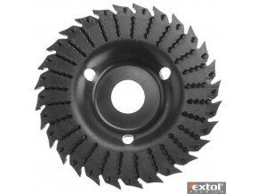 EXTOL® PREMIUM Kotouč rašplový na dřevo, hrubý sek + pila, 125 x 22,2 x 3 mm, 28 zubů