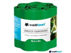 CELLFAST® Obruba plastová vlnitá, 9 m x 15 cm, zelená