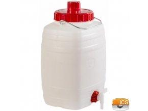 ICS® DEMETRA Barel na vodu 10 l, s ventilem, stohovatelný