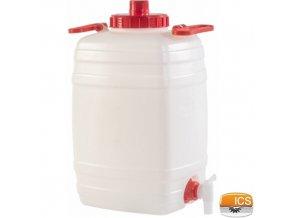 ICS® DEMETRA Barel na vodu 25 l, s ventilem, stohovatelný