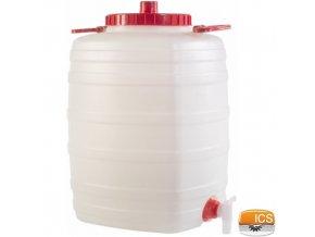 ICS® DEMETRA Barel na vodu 50 l, s ventilem, stohovatelný