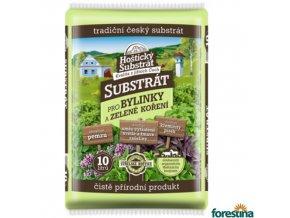 FORESTINA® Hoštický substrát pro bylinky a zelené koření, 10 l
