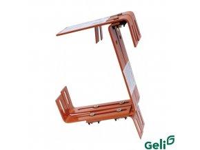 GELI® Držák truhlíku kovový, univerzální nastavitelný, terakota, sada 2 ks