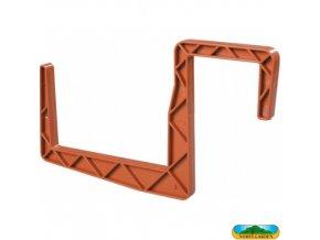 NOHEL GARDEN® Držák truhlíku plastový, hranatý, terakota, š. 12 cm, sada 2 ks