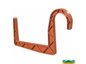 NOHEL GARDEN® Držák truhlíku plastový, kulatý, terakota, š. 12 cm, sada 2 ks