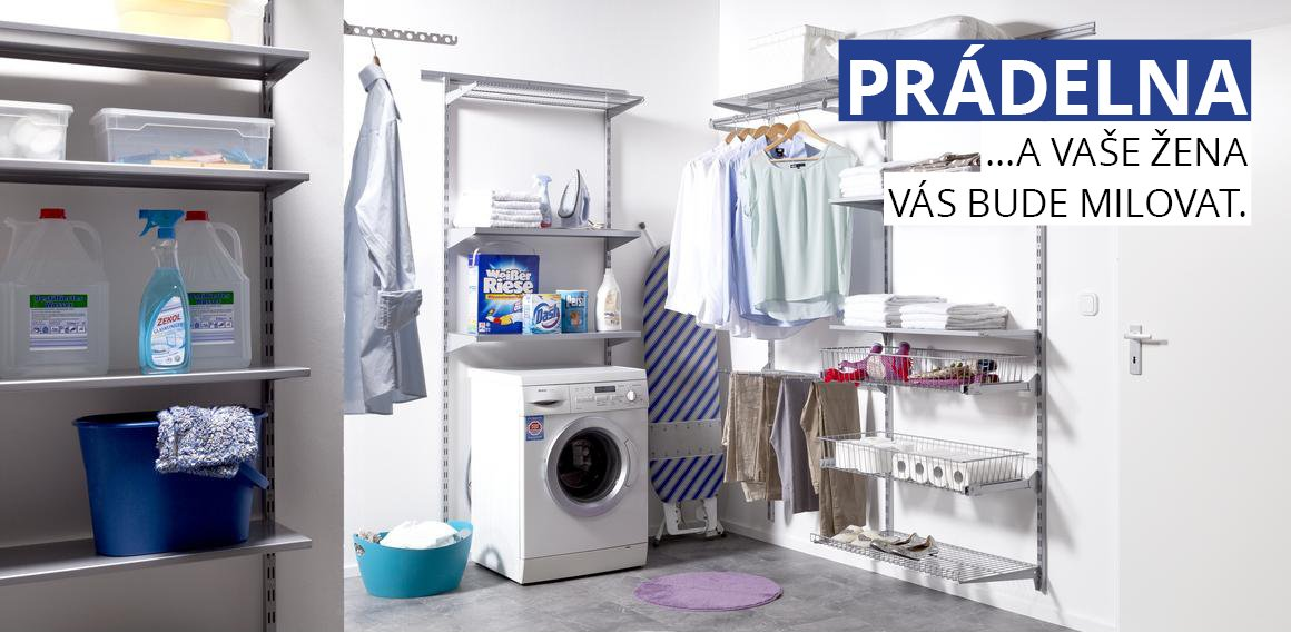 Nástěnný regál ELEMENT SYSTEM do prádelny
