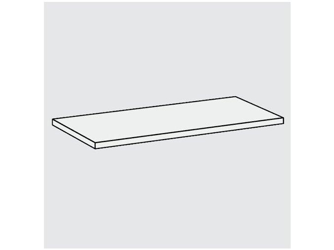 Dřevěná bílá police, 800 x 200 x 18 mm
