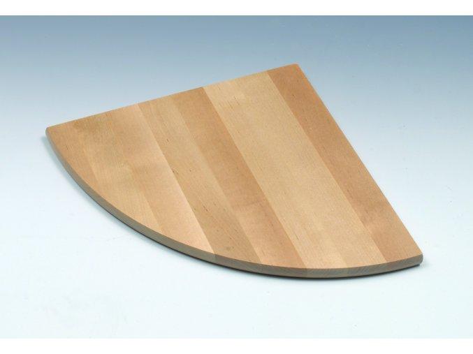 Dřevěná police rohová, 350 x 19 x 350 mm