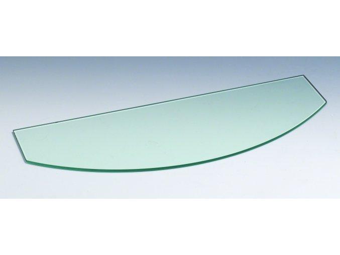 Skleněná police konvexní, 600 x 6 x 100/200 mm