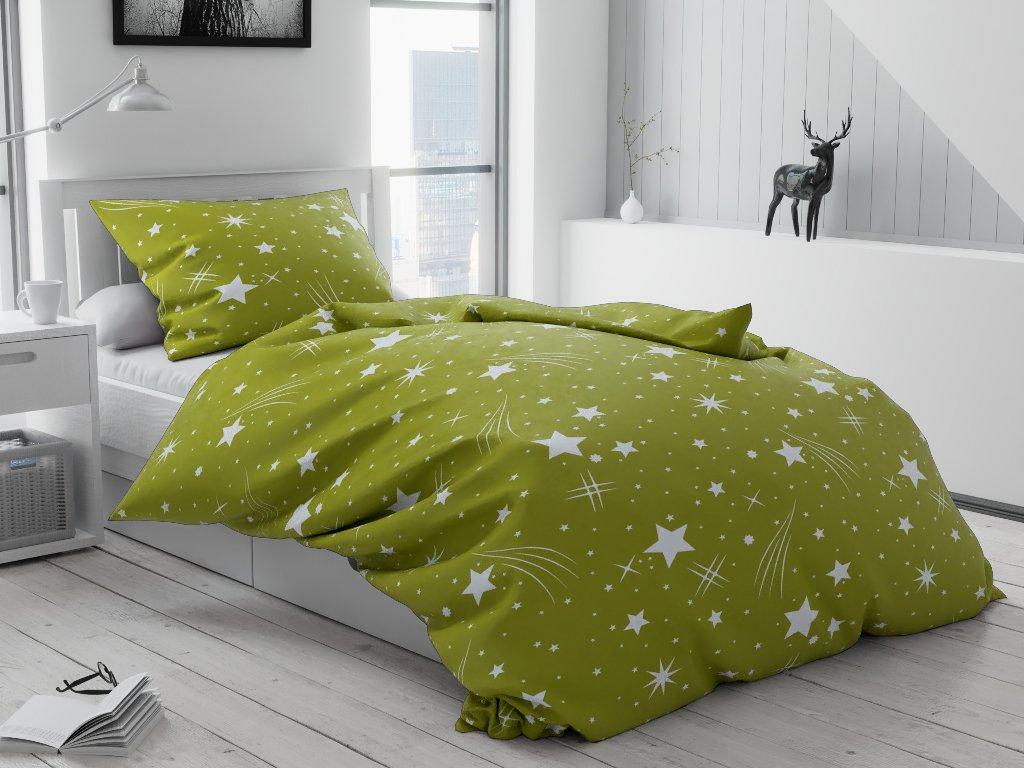 14381 1 krepove povleceni nocni obloha zelena