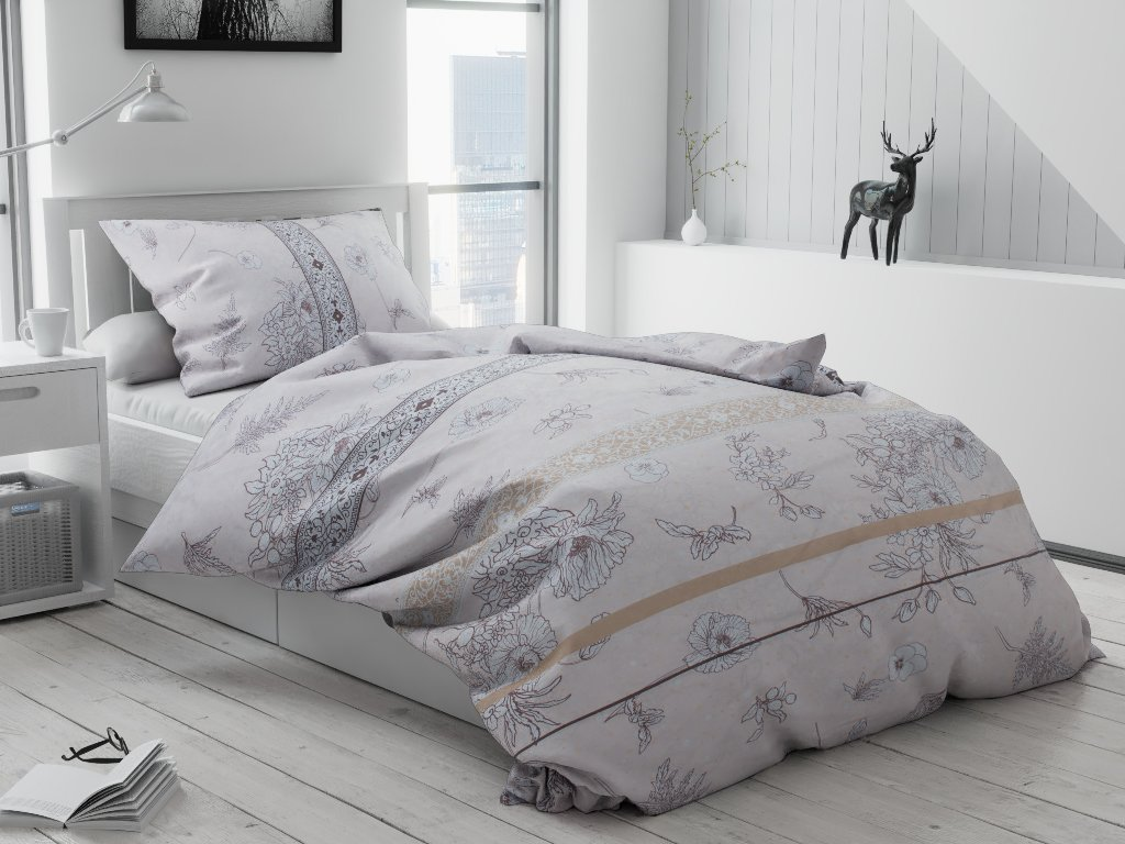 Klasszikus krém pamut ágyneműhuzat