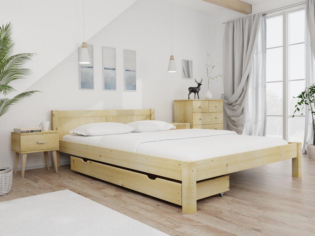 VIKTORIA ágy 140x200 cm, fenyőfa