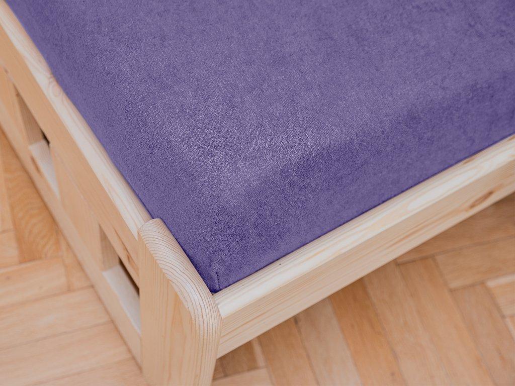 Frottír lila lepedő 90x200 cm