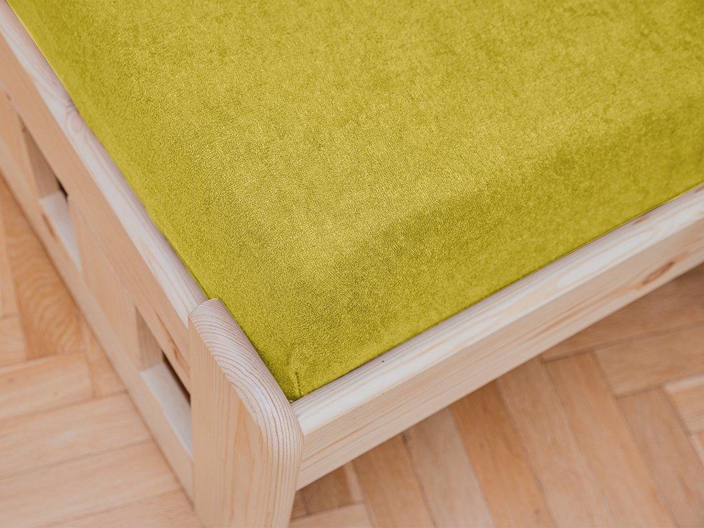 Frottír sárga lepedő 90x200 cm