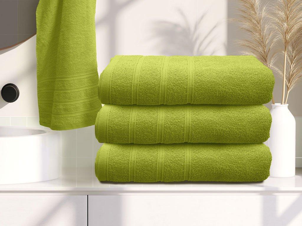Bella zöld fürdőlepedő
