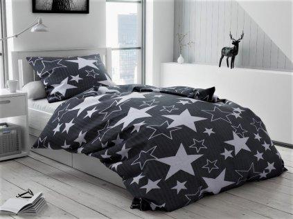 Star sötét szürke krepp ágyneműhuzat