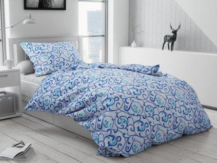 Jakub kék pamut ágyneműhuzat