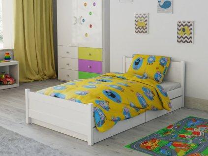 Happy sheep sárga pamut baba ágyneműhuzat