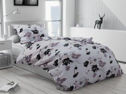 Tapéta fekete-fehér pamut ágyneműhuzat