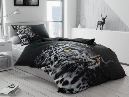 3D Leopárd fehér ágyneműhuzat