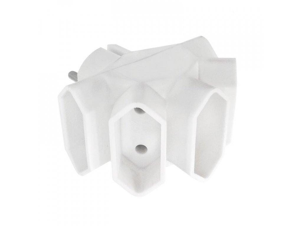 Solight rozbočka, 5 x 2,5A, bílá