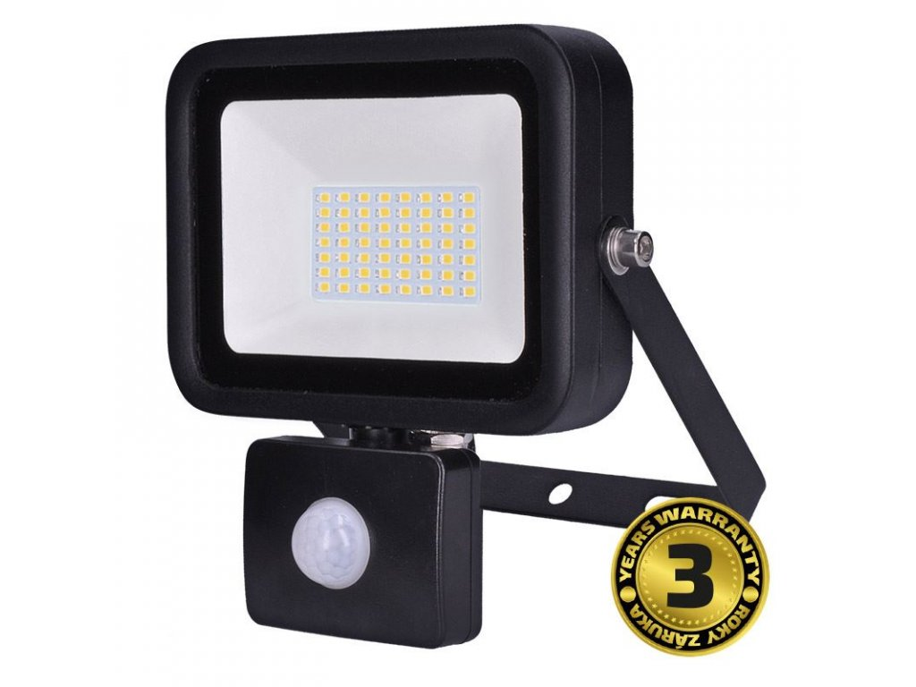 Solight LED reflektor PRO se senzorem, 50W, 4250lm, 5000K, IP44