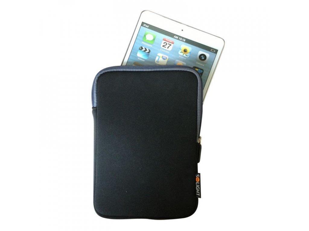 Solight neoprenové pouzdro na tablet, e-čtečku do 8'', nárazuvzdorné polstrování, černé