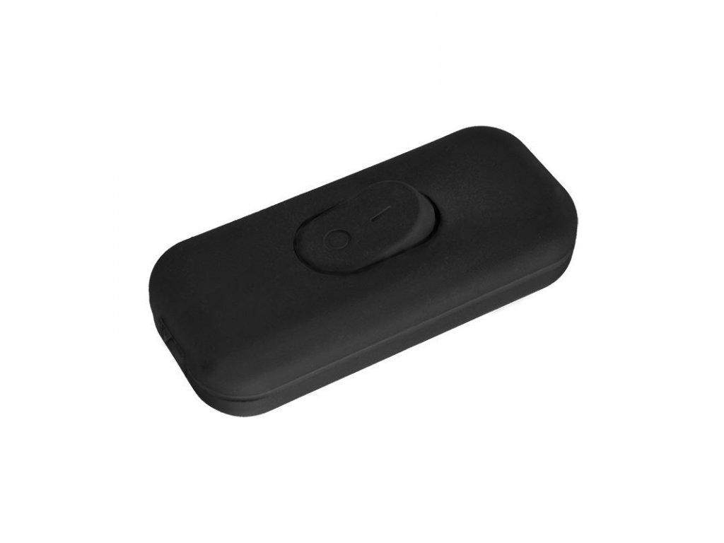 Solight vypínač šňůrový, jednopólový průchozí, černý
