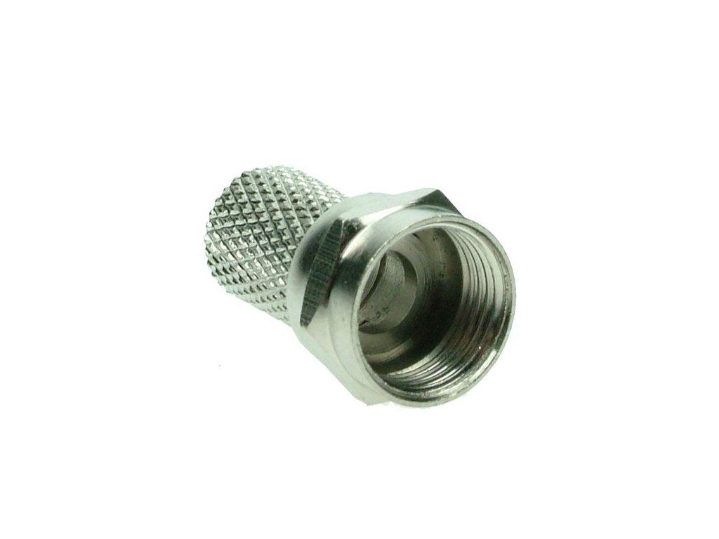 Solight anténní F-konektor, šroubovací, průměr: 6,5mm, 10ks, sáček