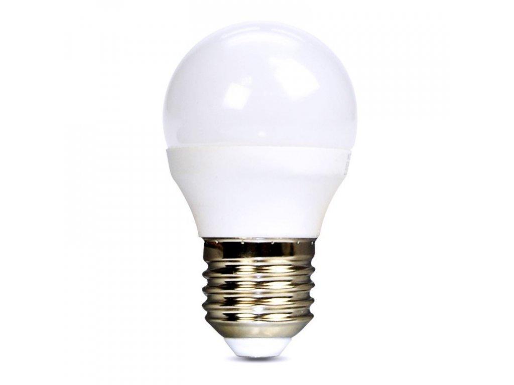 Solight LED žárovka, miniglobe, 6W, E27, 3000K, 510lm