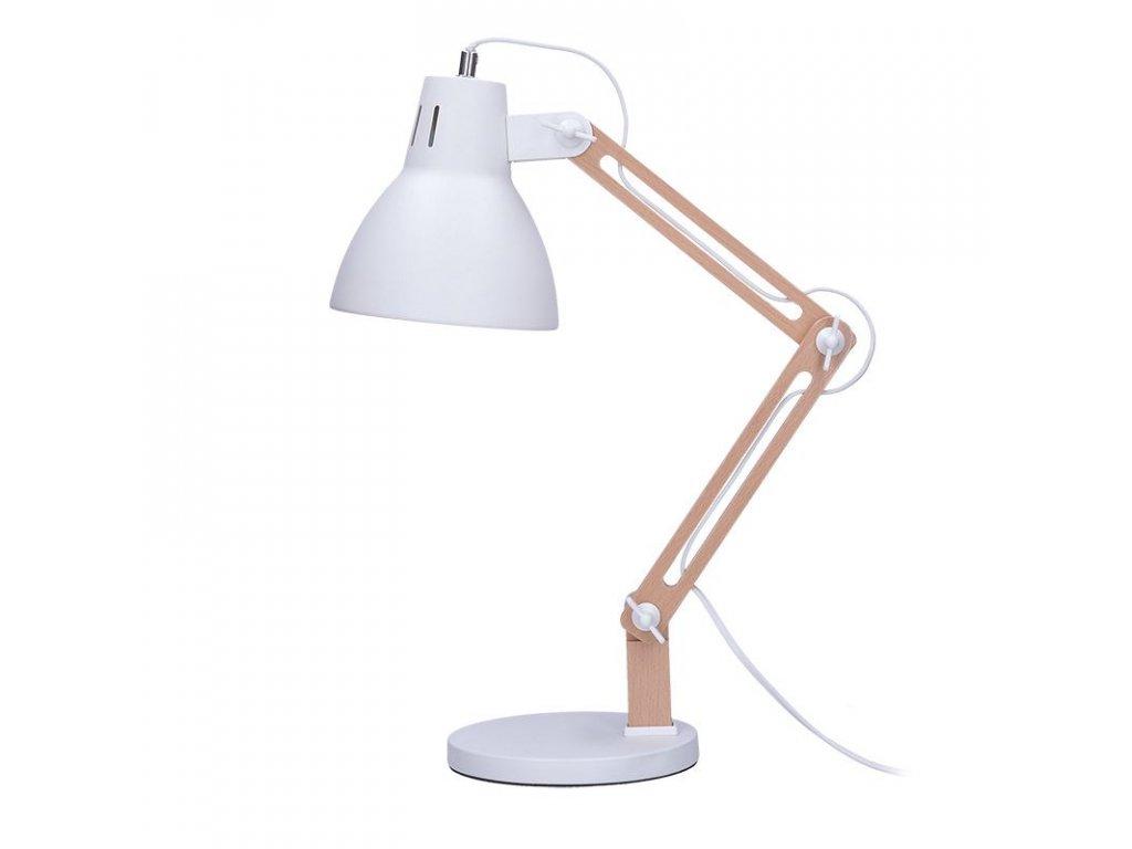 Solight stolní lampa Falun, E27, bílá
