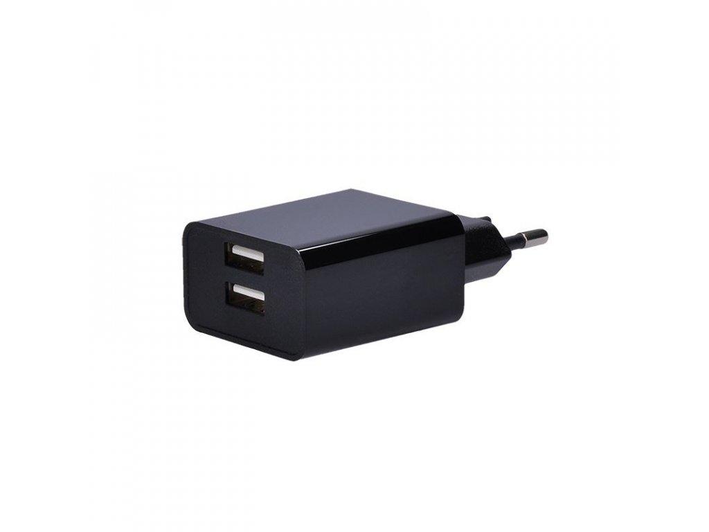 Solight USB nabíjecí adaptér, 2x USB, 3100mA max., AC 230V, černý
