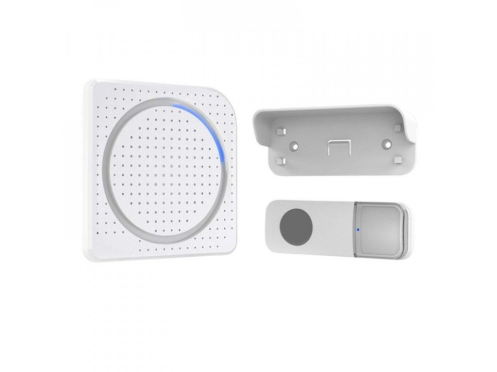 Solight bezdrátový zvonek, do zásuvky, 200m, bílý, learning code