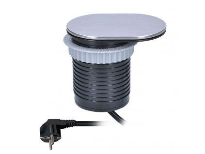 Solight 1x vestavná zásuvka + 1x USB s posuvným víčkem, délka 1,9m, USB 2400mA