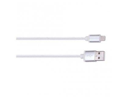 Solight Lightning kabel, USB 2.0 A konektor - Lightning konektor, blistr, 2m