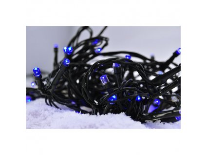Solight LED vánoční řetěz, 3m, 20xLED, 3x AA, modré světlo, zelený kabel