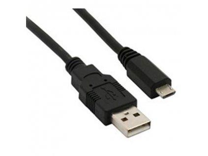 Solight USB kabel, USB 2.0 A konektor - USB B micro konektor, sáček, 50cm