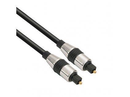 Solight optický kabel, Toslink - Toslink, blistr, 2m