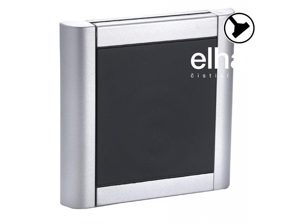 Zásuvka alu-černá, bez instalační sady