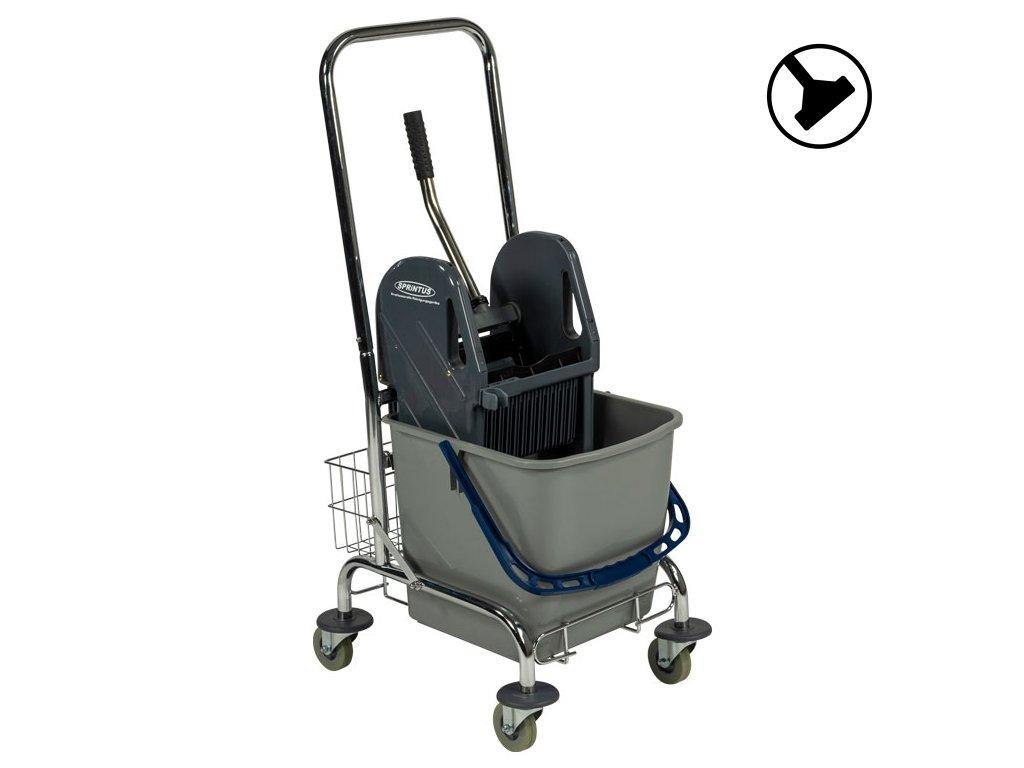 Úklidový vozík s jedním vědrem Chrom