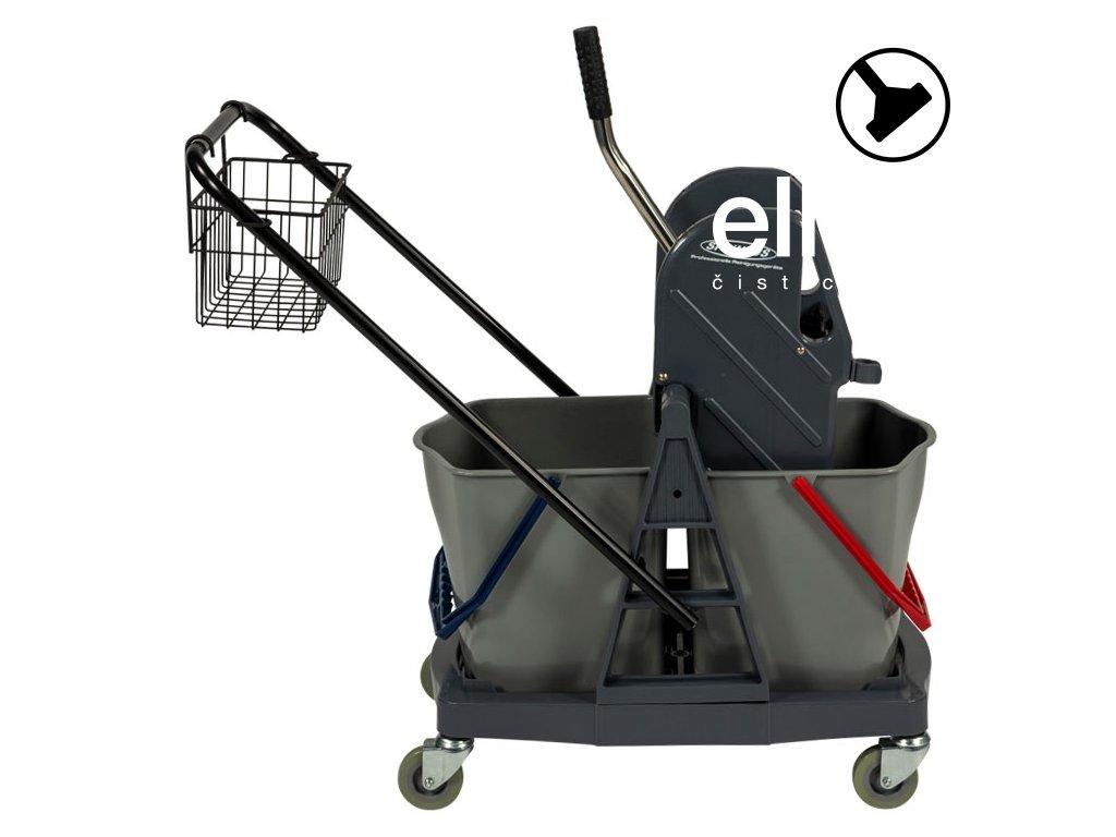Úklidový vozík se dvěma vědry Plast